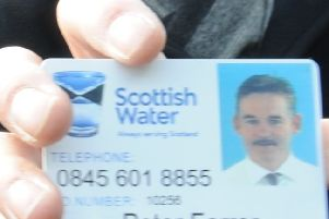 Scottish Water employees and contractors will always be happy to show you their ID