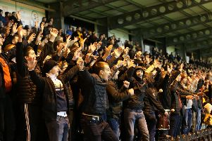 Motherwell fans celebrate 2-1 win at St Mirren (Pic by Ian McFadyen)