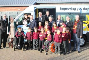 Firpark Primary takes delivery of its new Variety Sunshine Coach which replaces its old 11-year-old minibus which was no longer reliable