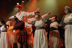 Performers from Motherwell's Firpark School taking part in a previous Rock Challenge. The school is competing again on Tuesday, March 19.