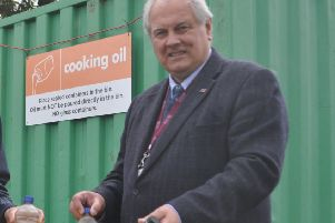 Selkirkshire councillor Gordon Edgar at one of the region's recycling centres.