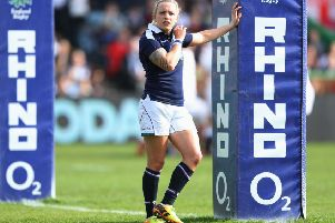 Chloe Rollie ... three tries for Scotland 7s for the former Gala youth and Melrose Ladies player on day two of the world qualifier in Hong Kong (picture by Warren Little/Getty Images)