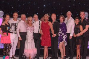 The amateur and professional dancers who performed at the Strictly St Andrew's events hosted by DoubleTree by Hilton Strathclyde