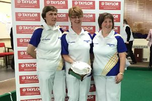 Stonehaven's winning triple, from left, Catherine McIntosh, Sheila Bremner, Kim Watt