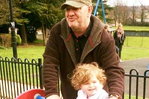 Ben Rudman, with daughter Blubelle.  Picture: SWNS