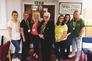 North Lanarklshire provost Jean Jones visits the You Are My Sunshine  hub at Brannock High