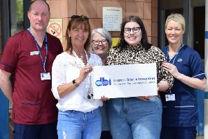 Andy Pender, DBI trained emergency department staff nurse at University Hospital Wishaw, Roseanne Collins from Lifelink who provide DBI support, and Julie Stachurska, 19, from Lanarkshire.
