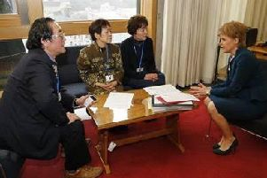 In March 2016 representatives Yamada Reiko and Yamada Midori, survivors of the Hiroshima atomic bombing, met with First Minister Nicola Sturgeon to share their experiences. During this visit, the First Minister signed the Appeal.