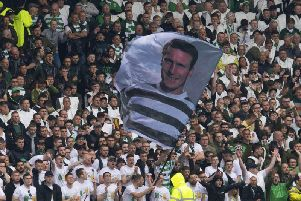 Celtic fans unfurl Billy McNeill tribute banner at last Saturday's William Hill Scottish Cup final (Pic by Craig Foy, SNS)