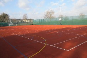 The MUGA pitch will replace an existing red blaze model.