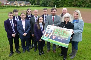 Billy McNeill's wife Liz, daughter Libby joined Our Lady's High head teacher Dan Cardle and pupils  and Councillor Paul Kelly, depute leader of North Lanarkshire Council, to launch work on the new park.
