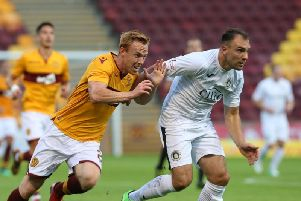 Danny Johnson came close to scoring for Motherwell in the first half at Crusaders (Library pic)