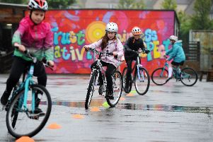 Children took it in turn to try out their steering ability. Pictures: Michael Gillen