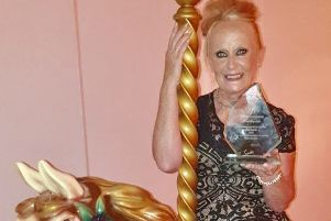 Rosie Brennan from Parkspring Care Home with her award