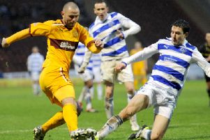 Action from a previous Motherwell v Morton clash