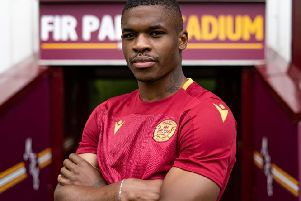 Motherwell forward Christy Manzinga (Pic courtesy of Motherwell FC)