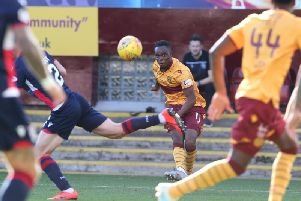 Sherwin Seedorf in action for Motherwell against Ross County on Saturday (Pic by Ian McFadyen)