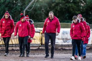 Cami Brown and his Glasgow Tigers team are all set for a titanic struggle with Leicester Lions