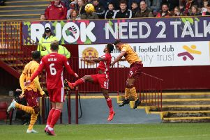 Action from Motherwell v Aberdeen on Saturday (Pic by Ian McFadyen)
