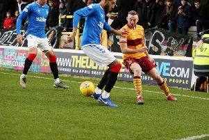Action from Motherwell v Rangers on Sunday (Pic by Ian McFadyen)