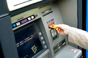 Shoppers are being urged to be vigilant when withdrawing cash from ATMs.
