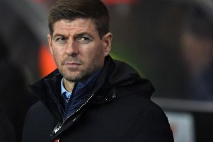 Rangers boss Steven Gerrard wasn't happy to see his side frustrated by Stranraer for long periods (pic: Getty Images)