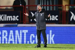 Manager Stephen Robinson praised the away support at Dens Park (Pic by Ian McFadyen)