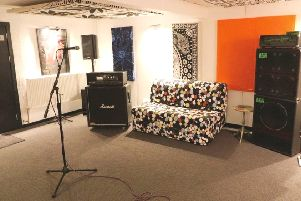 Gina Young and husband Simon Stewart have establised a new apartment and music studio at Nether Kinneil Farmhouse.