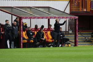 Well gaffer Stephen Robinson watches Saturday's goalless draw against Hibs (Pic by Ian McFadyen)