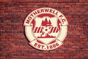 A club crest at Fir Park, Motherwell.  (Photo by Ian MacNicol/Getty Images)