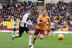 Chris Long (pictured) scored a goal in Motherwell's 2-0 home league win over St Mirren in their last visit to Fir Park on October 5 (Pic by Ian McFadyen)