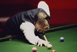Dennis Taylor on his way to winning the 1985 world championships
