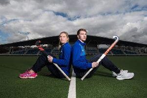 Scotland hockey players Rob Hardwood and Lucy Lanigan are heading to Gold Coast for the Commonwealth Games. Picture: John Devlin