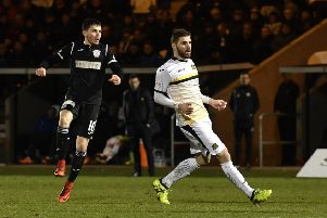 St Mirren's Lewis Morgan strikes to score his side's fifth goal. Picture: SNS