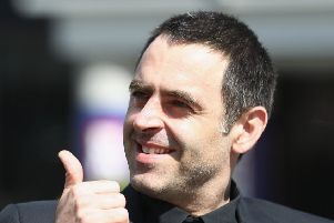 Ronnie O'Sullivan was in good spirits as he took part in a media day in Sheffield. Picture: Getty.