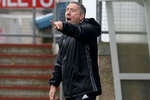 Peterhead manager Jim McInally described his team as 'thoroughly professional'. Picture: SNS.