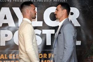 Josh Taylor and Viktor Postol ahead of their fight at the SSE Hydro on 23 June. Picture: Jen Charlton