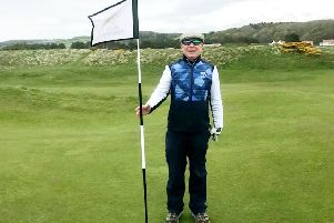 John Foster.  A partially sited golfer has hit an incredible hole in one at a popular Scottish golf course.  Picture: SWNS