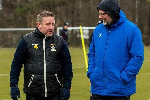 Inverness coach John Robertson and Hearts manager Craig Levein will lock horns in a televised Betfred Cup tie. Picture: SNS