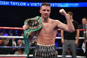 Josh Taylor racked up an impressive points win over Viktor Postol. Picture: SNS Group