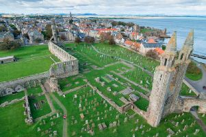 St Andrews is one of the places that will see strong UV radiation this afternoon (Photo: Shutterstock)