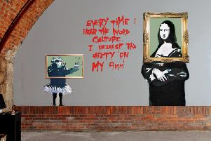 The Banksy paintings at The Arches weren't accidently covered in emulsion paint, according to the founder and artistic director of the venue. Picture: SWNS