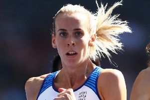 Lynsey Sharp is hunting for gold in Berlin. Picture: Getty.