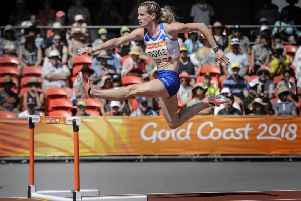 Eilidh Doyle competes at the 2018 Commonwealth Games. Picture: Bobby Gavin