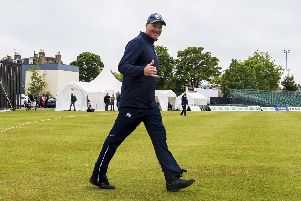 Grant Bradburn at the Grange, where he guided Scotland to victory over England in June in a one-day international. Picture: SNS