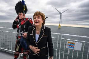 First Minister of Scotland, Nicola Sturgeon attends the opening of The European Offshore Wind Deployment Centre located in Aberdeen Bay on September 7, 2018..  (Photo by Jeff J Mitchell/Getty Images)