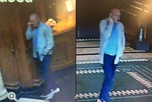 """Crown Office handout CCTV still of Richard Fleming at the Gleneagles hotel on 12 June 2017. Fleming and Liam Richardson have been convicted over their involvement in a """"terrifying"""" �500,000 armed robbery at Gleneagles Hotel in Auchterarder, Perthshire. Picture: Crown Office/PA Wire"""