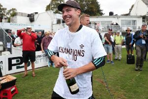 Surrey's Rory Burns celebrates victory over Worcestershire which clinched the County Championship. Picture: David Davies/PA Wire