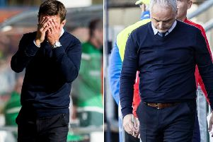 Grim viewing: Neil McCann, left, and Ray McKinnon. Pictures: SNS Group