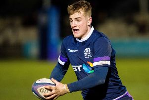 Scotland U20 international Stafford McDowall scored two tries for Ayr. Picture: SNS